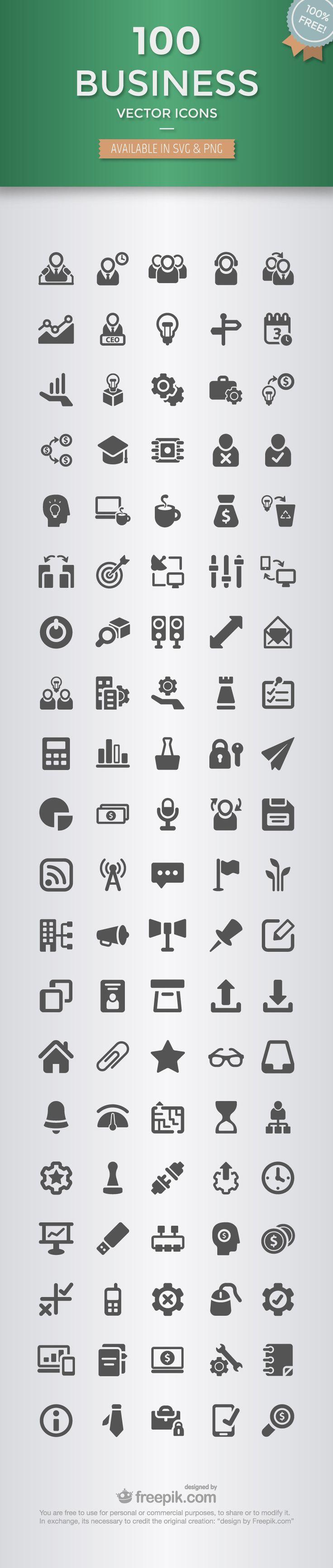 100 icônes « business » à télécharger gratuitement