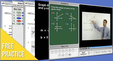 comprehensive Compass math course to ace the test