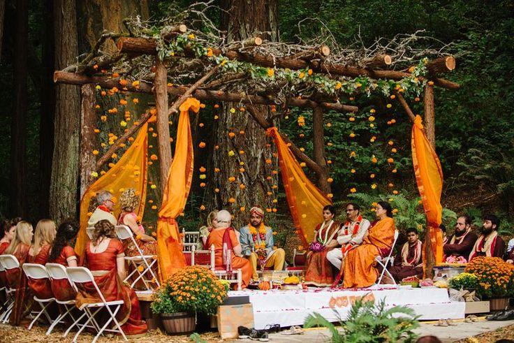 Rustic Indian Woodland Wedding in California, USA