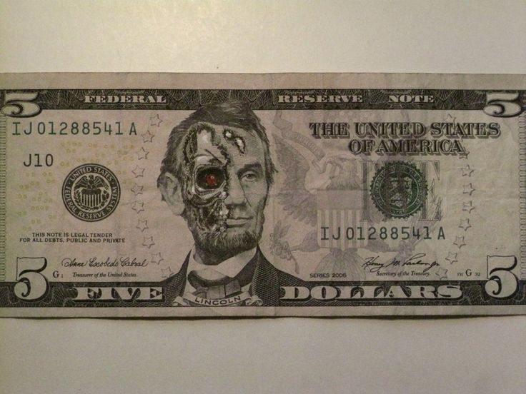 Terminator Lincoln.Abraham Lincoln, Canvas Photos, Photos Gallery, Moneyart, Dollar Bill, Funny, Money Art, Dollar Art, Who Knew