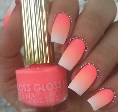 nails summer orange colors nail art