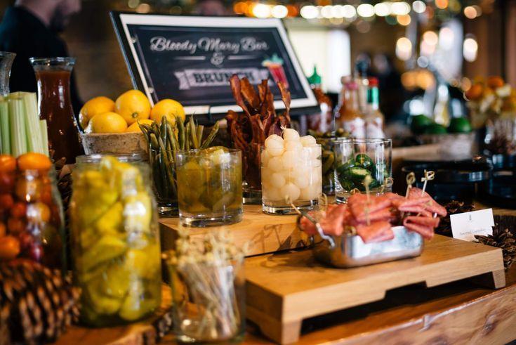 Bloody Mary and Mimosa bar at Brunch at Manzanita at The Ritz-Carlton Lake Tahoe CA, The Taste SF #travel #california #tahoe #hotel #ritzcarlton #truckee #ski #snow #cocktail #brunch