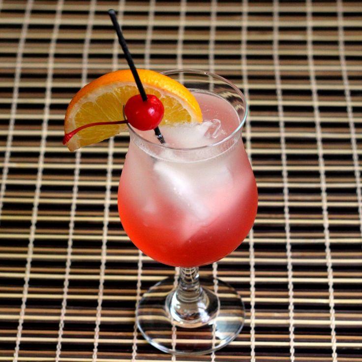 Cherry Vodka Sour drink recipe: vodka, grenadine, sour mix