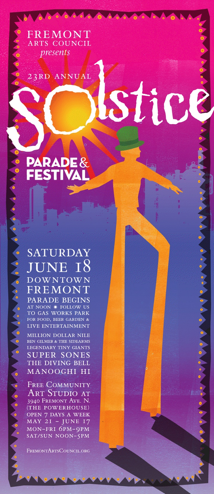 Go to the Fremont Solstice Parade!