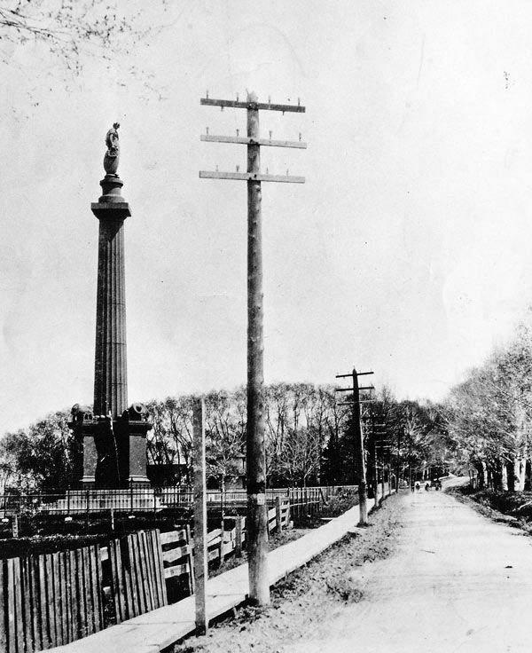 Parc des Braves en 1863 et c'est la rue St-Jean et le Monument pour marquer les batailles sur les Plaines et Ste-Foy.