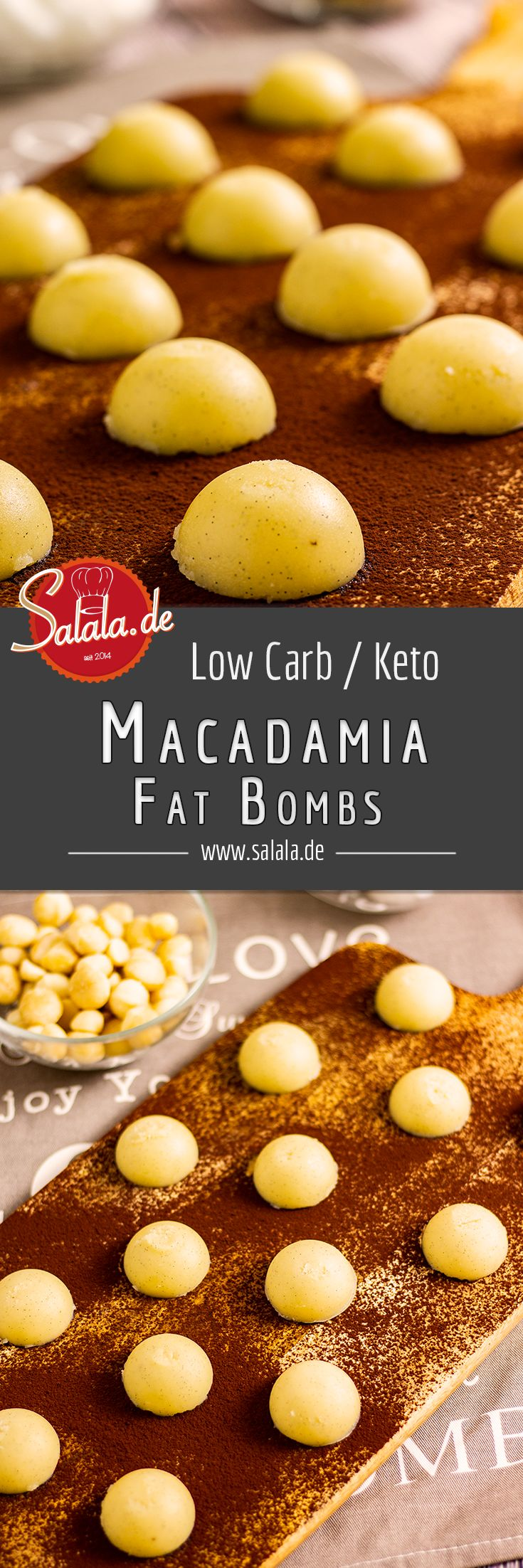 vanille macadamia fat bombs rezept low carb. Black Bedroom Furniture Sets. Home Design Ideas