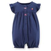 This easy 1-piece outfit is so cute with flutter sleeves and a character embroidery on the back. Cotton rib stays soft and comfy on your baby girl's skin.<br>