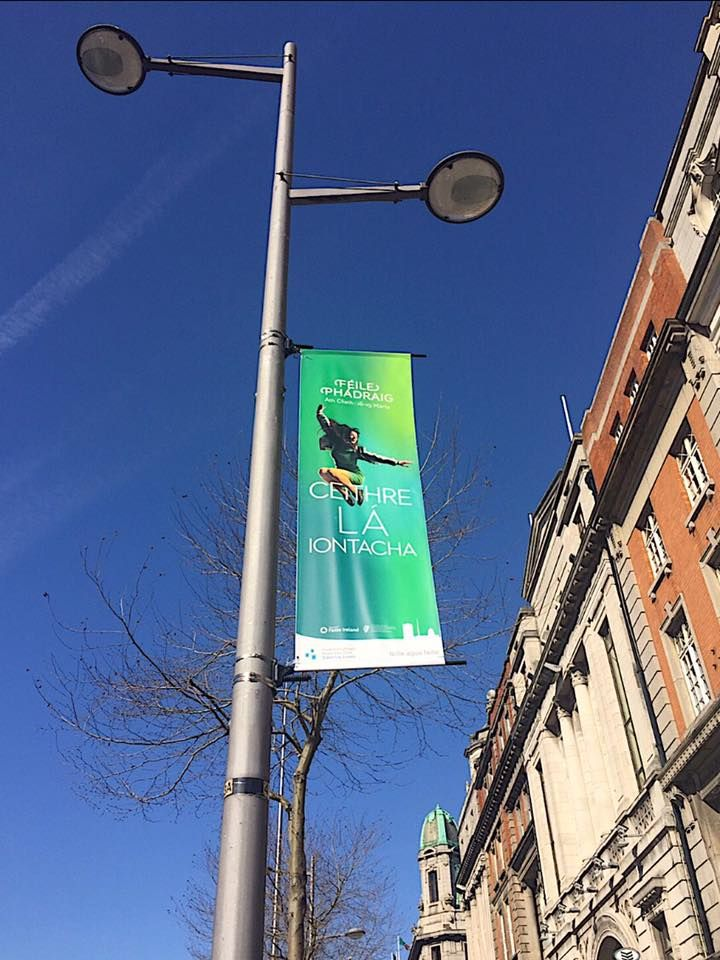 #StPatrickFest Lamppost Banners along 2017  #civicmedia2017