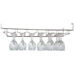 "Johnson-Rose Corporation 91823 24"" W Heavy Wire Overhead Glass Rack - Chrome - Serv-U Restaurant Equipment & Supply"