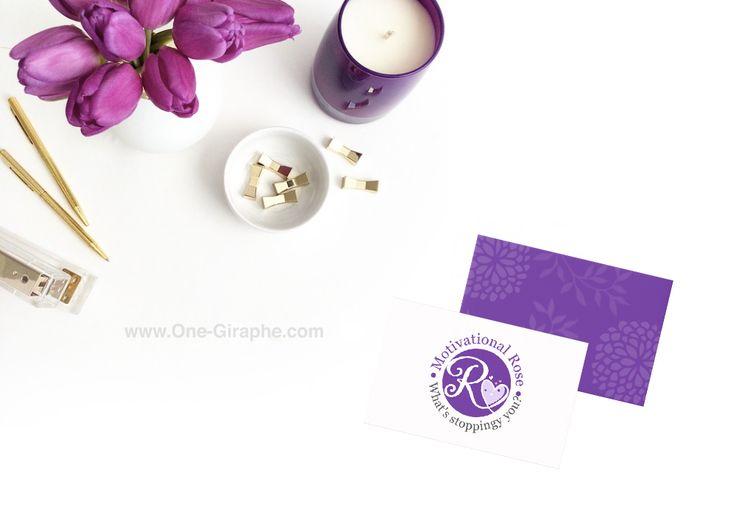 www.One-Giraphe.com Logo Design Portfolio #logo #logos #design #logodesign #brandidentity #brand #branding #rose #watercolor