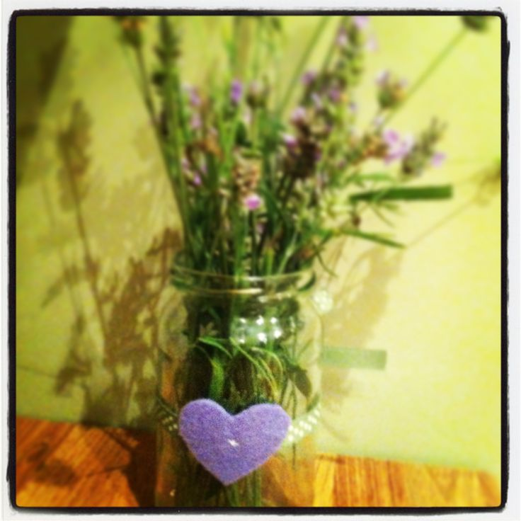 Little lavender gift for my sister. Made two for me bedside tables too. Makes bedroom smell lovely