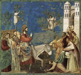 Entrada triunfal de Jesucristo en Jerusalén, pintada por Giotto.