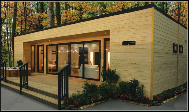 I LOVE THIS!! Would love to refinish the exterior of our mobile home to look like this!! - Char Launched In 2012 The Finnish Contemporary Is The Very Latest In Contemporary Mobile Home Design                                                                                                                                                                                 More