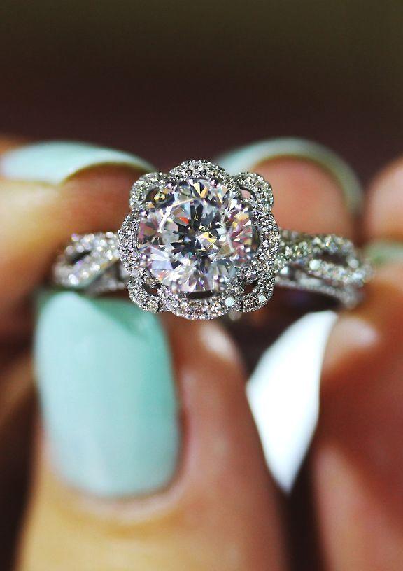 95 mm cushion cut brilliant wedding engagement rings - Wedding Rings Tiffany