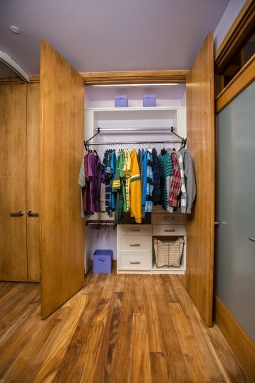 Closets Have Automated Racks That Raise And Lower For