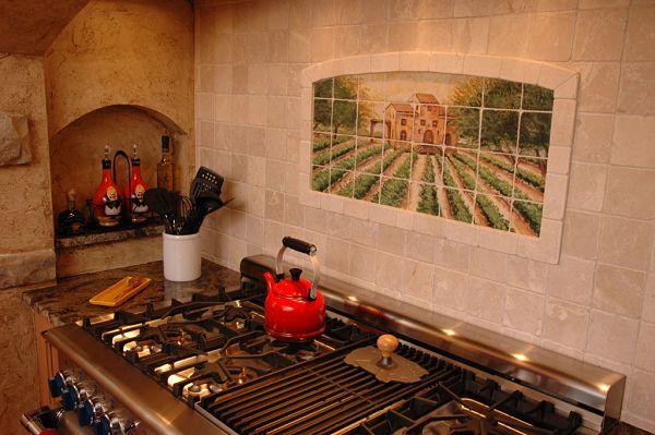 French Country Kitchen Backsplash | is often used in Country French, Tuscan and Country-style kitchens ...