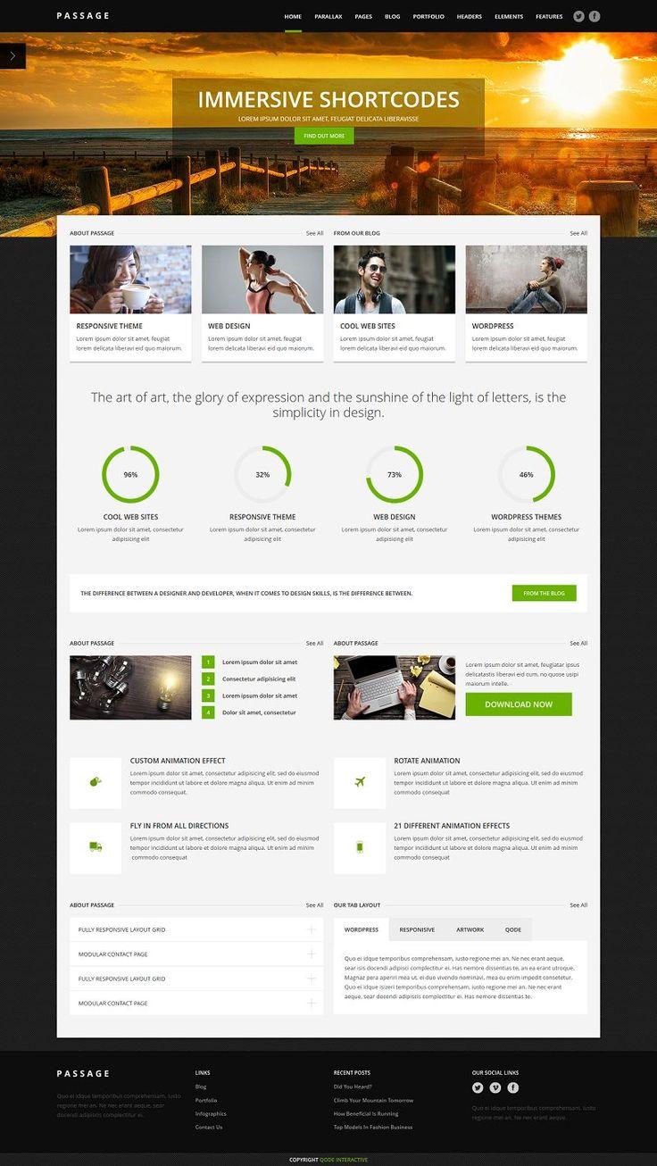 PASSAGE is a multi-purpose retina-ready WordPress theme.