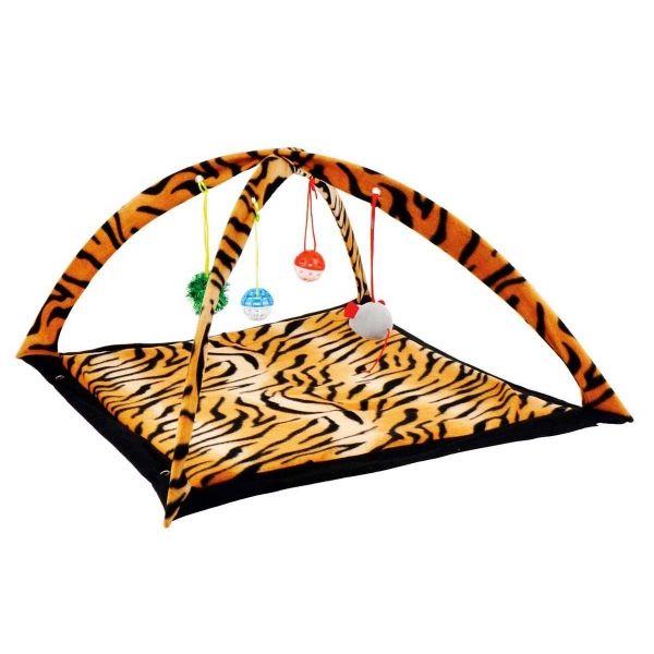Cat Play Centre 57x59x33cm 2asst Animal Prints Zebra / Tiger | Pet Accessories | Cheap as Chips