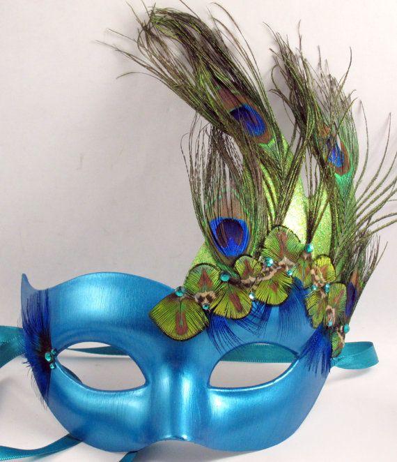 Peacock Couture Masquerade Mask