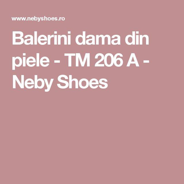 Balerini dama din piele - TM 206 A - Neby Shoes