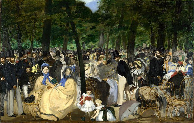 Édouard Manet, Musica alle Tuileries, 1862. Olio su tela, 76,2×118,1 cm. National Gallery, Londra