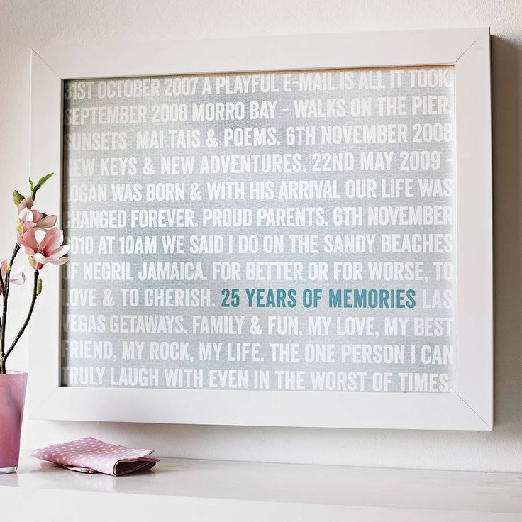 personalised 'years of memories' print by more than words | notonthehighstreet.com