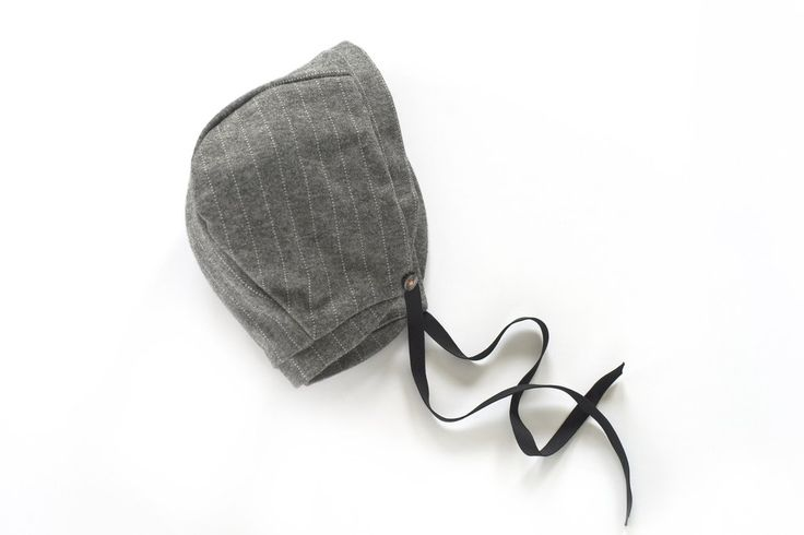 Sloane Bonnet in Elephant Grey Pinstripe: Pre-order