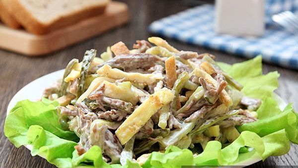 сытный мужской салат из говядины!