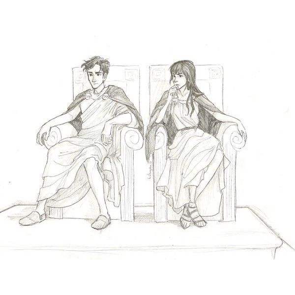 Stuff / Percy and Reyna by Burdge-Bug ❤ liked on Polyvore featuring percy jackson