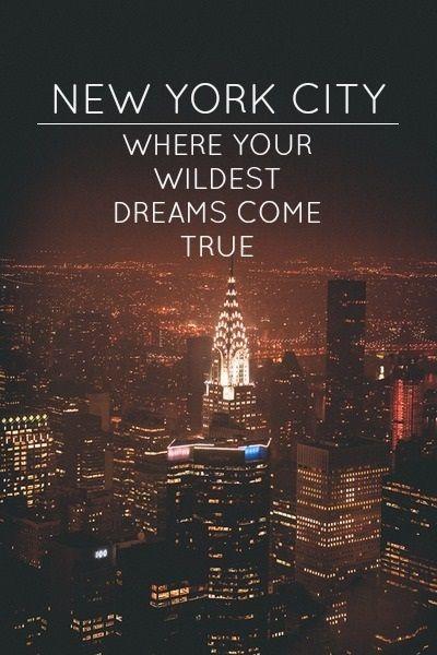 NYC...my dreams came true.