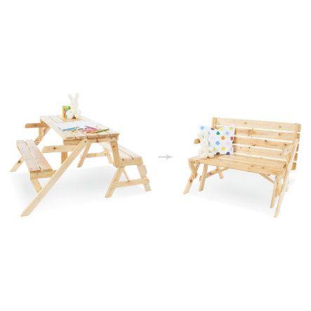 Pinolino 2in1 Kindersitzgarnitur und Gartenbank Elli bei babymarkt.de - Ab 20 € versandkostenfrei ✓ Schnelle Lieferung ✓ Jetzt bequem online kaufen!