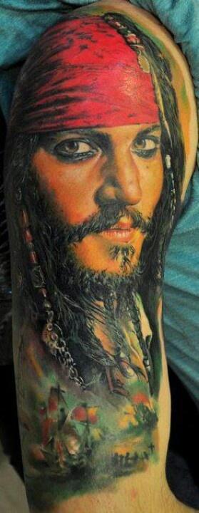Captain Jack tattoo a la Dmitriy Samohin