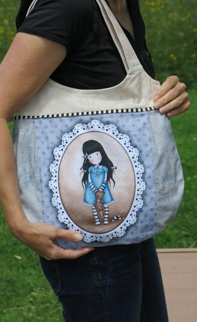 """Simply Gorjuss"" collection by Santoro - Handmade bag"
