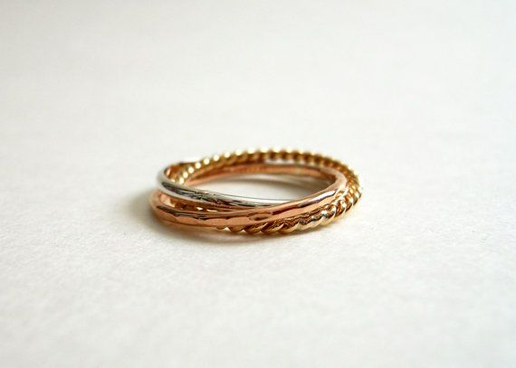 Funky Rolling Ring 14k Gold Filled Sterling Silver by StreetBauble, $40.00