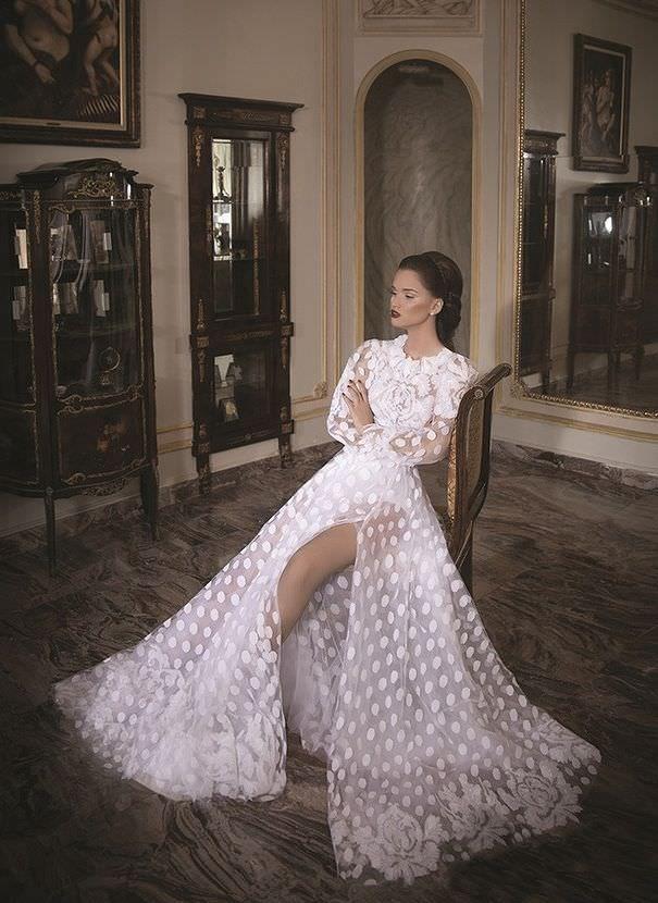 Daniel свадебное платье в стиле бохо шик, рустик, с разрезом