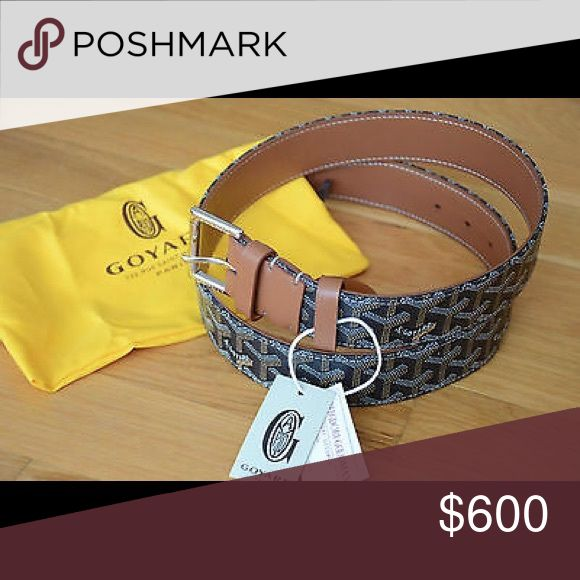 Goyard Belt 100% Authentic With Tags; Never Worn; Comes With Dust Bag; No Box Goyard Accessories Belts