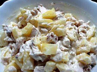 Рецепты салатов из ананасов и сыра
