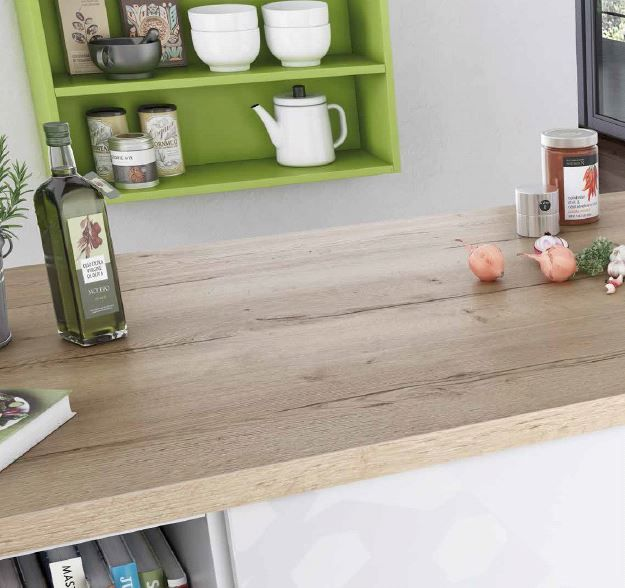 Egger H1180 Natural Halifax oak 38mm bench top is part of the Feelwood range this beautiful colour has synchronised pore technology, with matching and cross cut ABS edging.
