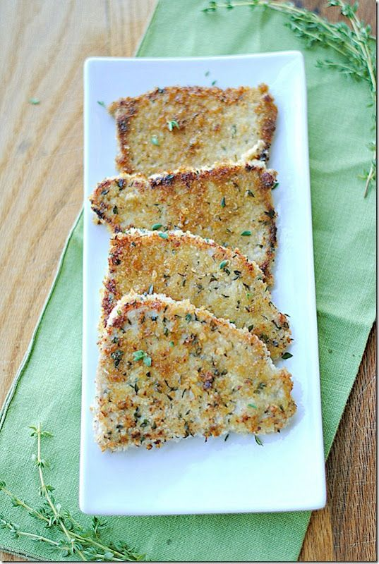 """herb crusted pork chops from """"Eat yourself Skinny"""" ... only 5points plus per pork chop!"""