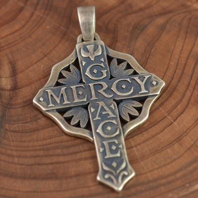 Sterling Silver James Avery Grace Mercy Cross 10 2g
