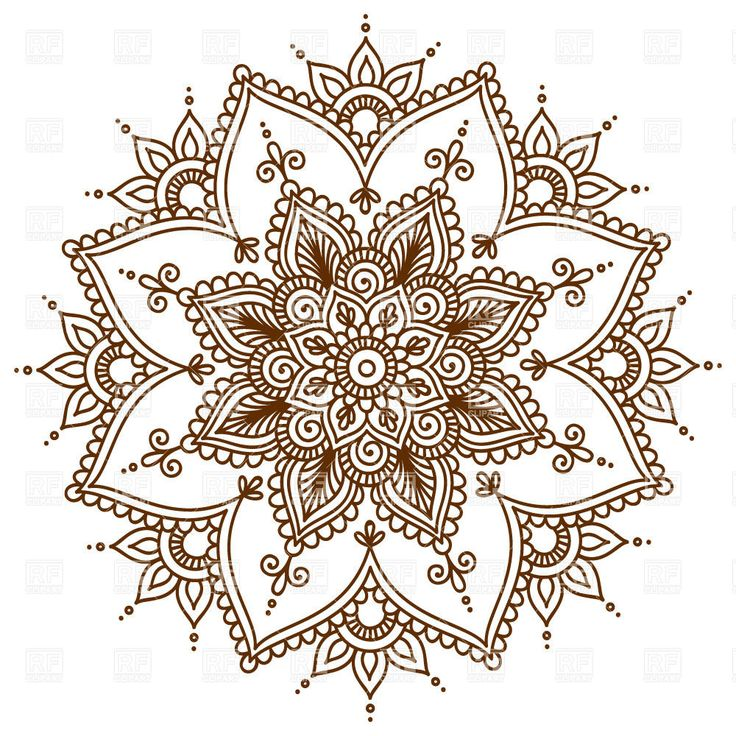 Brown round floral mandala, 28999, Design elements,  Download, Royalty free, Vector, eps, clipart, jpg, images, clip art, graphics
