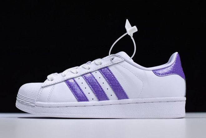 adidas original superstar violet