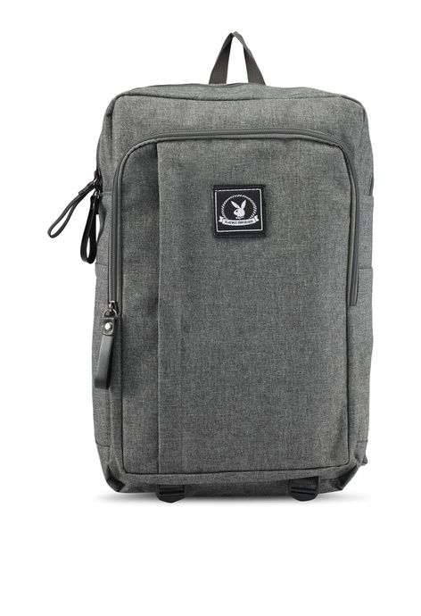 Casual Backpack from Playboy in grey 1  e55aaff579fc2
