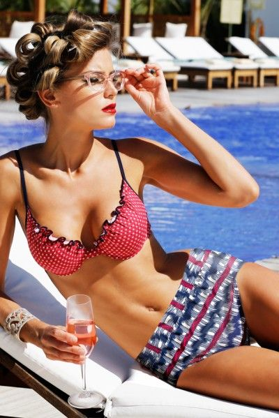 Sabz Swimwear 2014 'Betty Boop Pin-up' Two-Piece | The Orchid Boutique $123