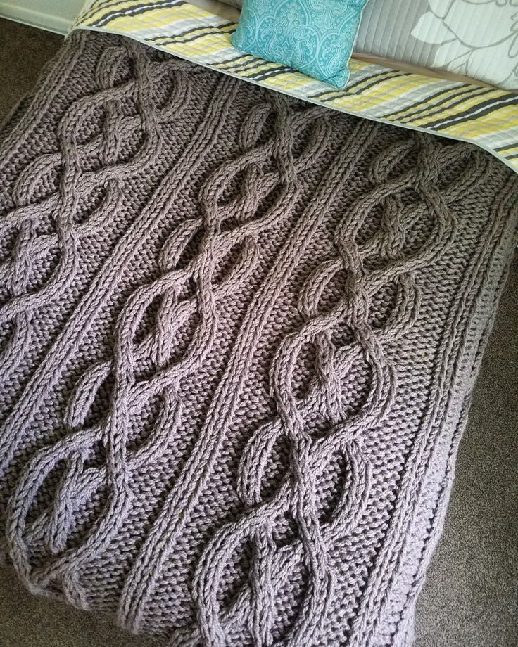 Giant Luxury Cable Knit Blanket- Custom Size