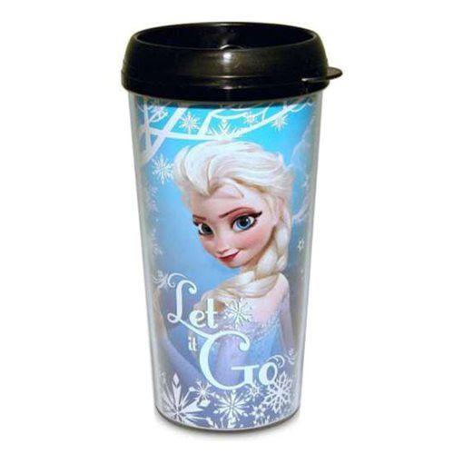 Disney Frozen Elsa Let it Go Snowfall 16 oz. Plastic Travel Mug