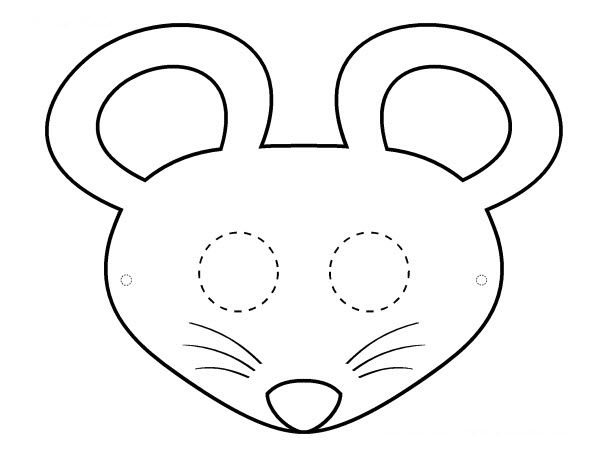 masque souris noir et blanc