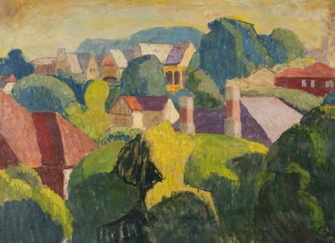 Roland Wakelin, love his color blocking