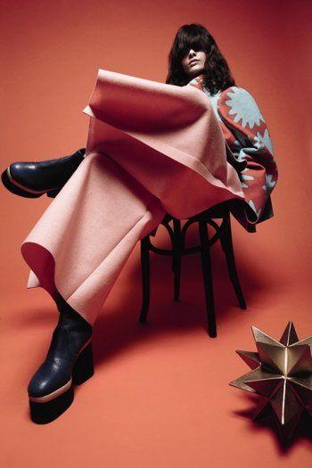 Comme des Garçons dress, photographed by Daniel Jackson for Another Magazine, 2014 tag: Rei Kawakubo
