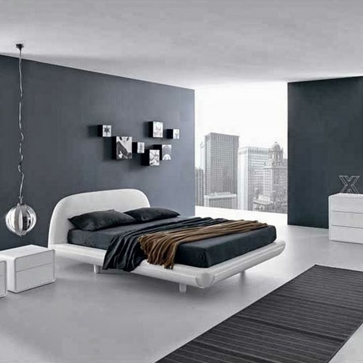 Bedroom The Beautiful Deisgn Of Bedroom With Golor Of Gray Wall With White Roof Also White Floor And White Bed Also The White Cabinet And White Glass